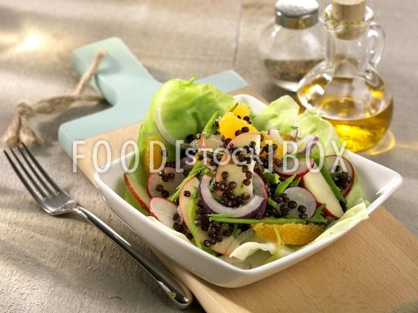 Salat von schwarzen Linsen 2