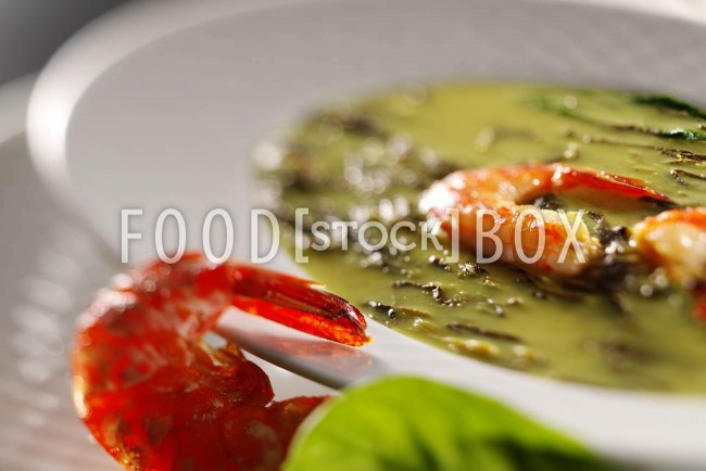 Spinat-Gamba-Suppe